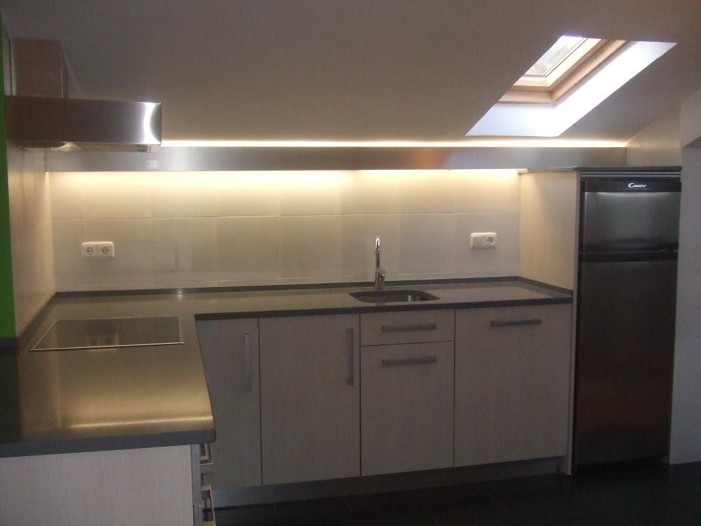 Loft kitchen design light