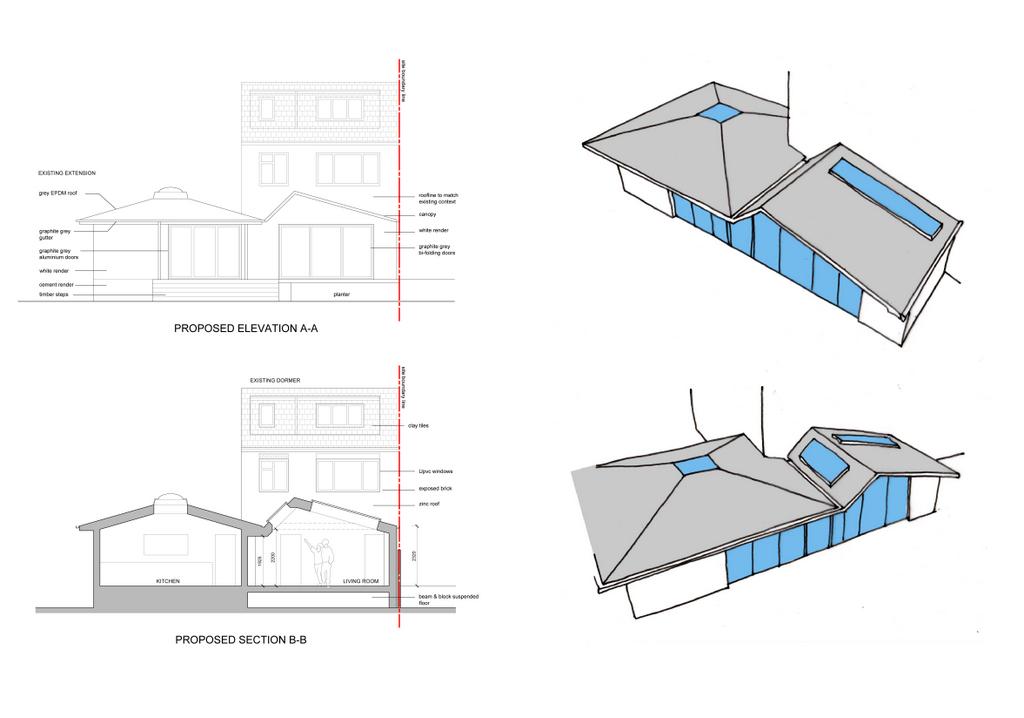 3D sketch roof proposals