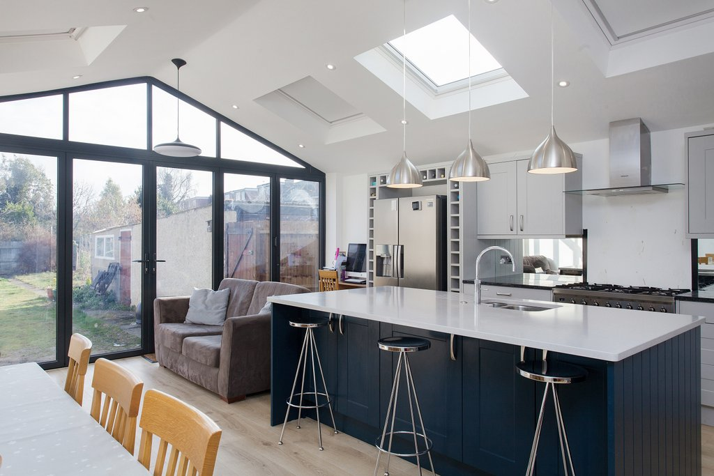Pitched Extension loft_kitchen island