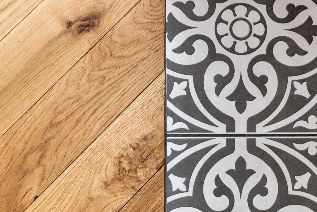Teddington flooring wood and tiles